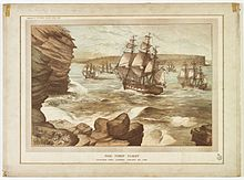 The_First_Fleet_entering_Port_Jackson,_January_26,_1788,_drawn_1888_A9333001h.jpg