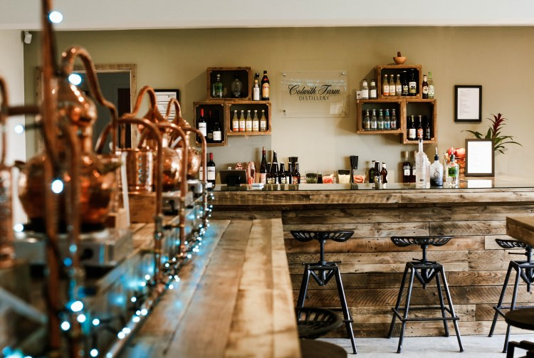 Colwith Farm Distillery bar credit Emma Griffin