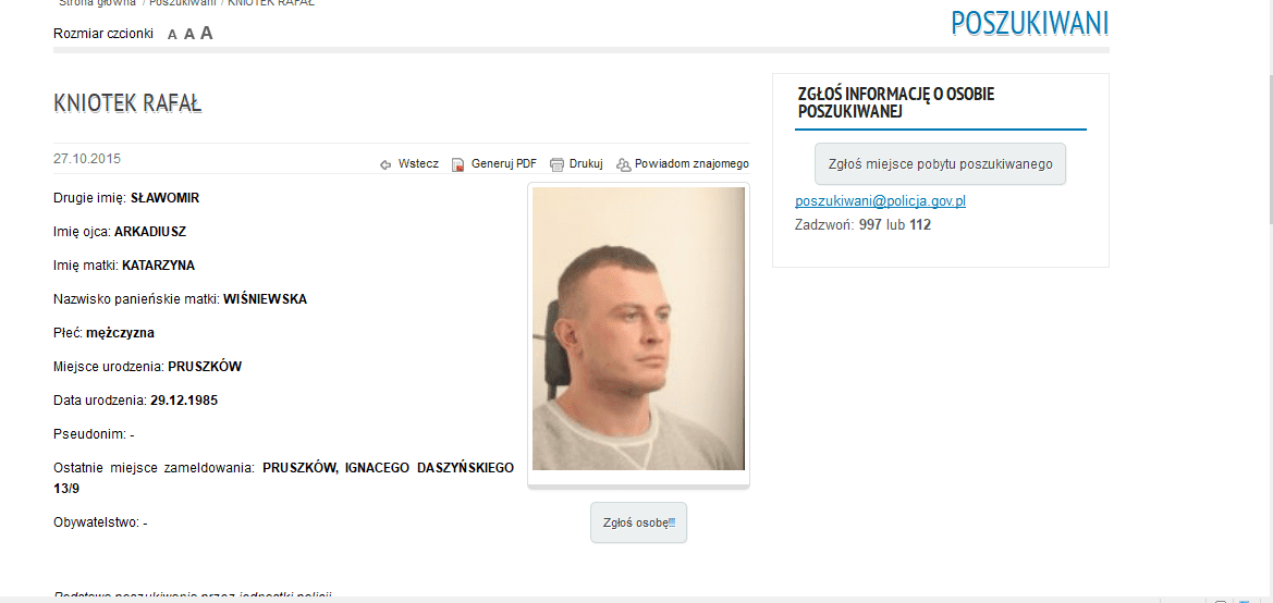 One of Poland's Most Wanted At Large in Cornwall