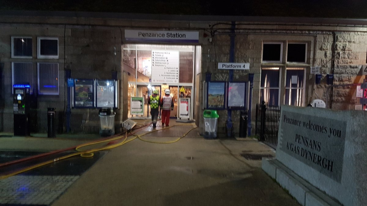 Fire At Penzance Train Station - update