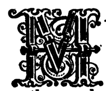 Decorative letter M illustrated by J T Blight in the 19th century
