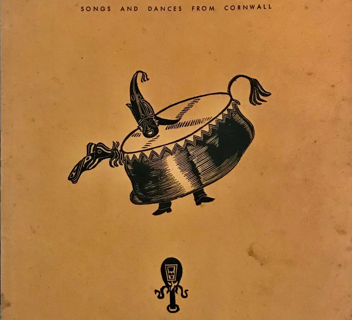 Cover of Inglis Gundry Canow Kernow book 1966 showing Padstow Obby Oss