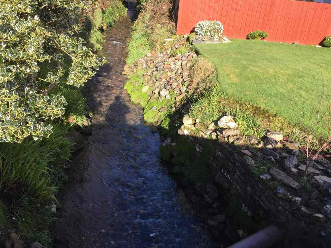 An urban stream.