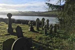 Ethy - Celtic crosses in St Winnow church yard