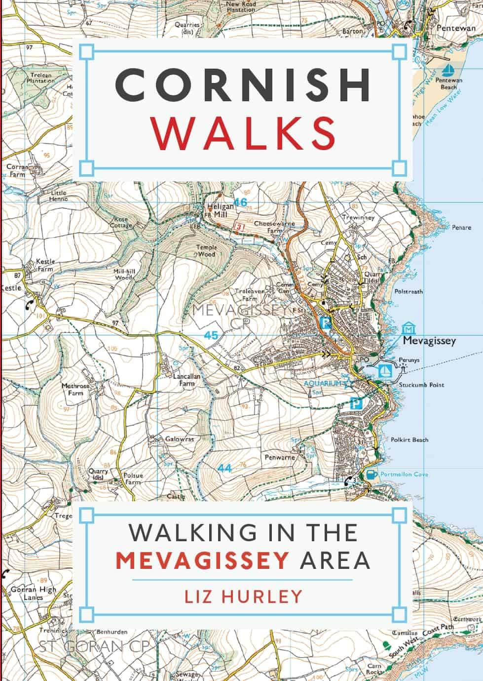 Book cover Walking in the Mevagissey Area
