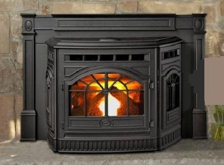Fireplace Insert Vintage Corn Pellet Stove Cast Iron