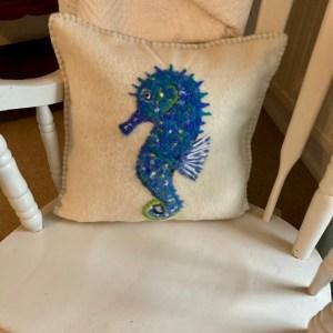 Handmade by Julie Cushion - Seahorse