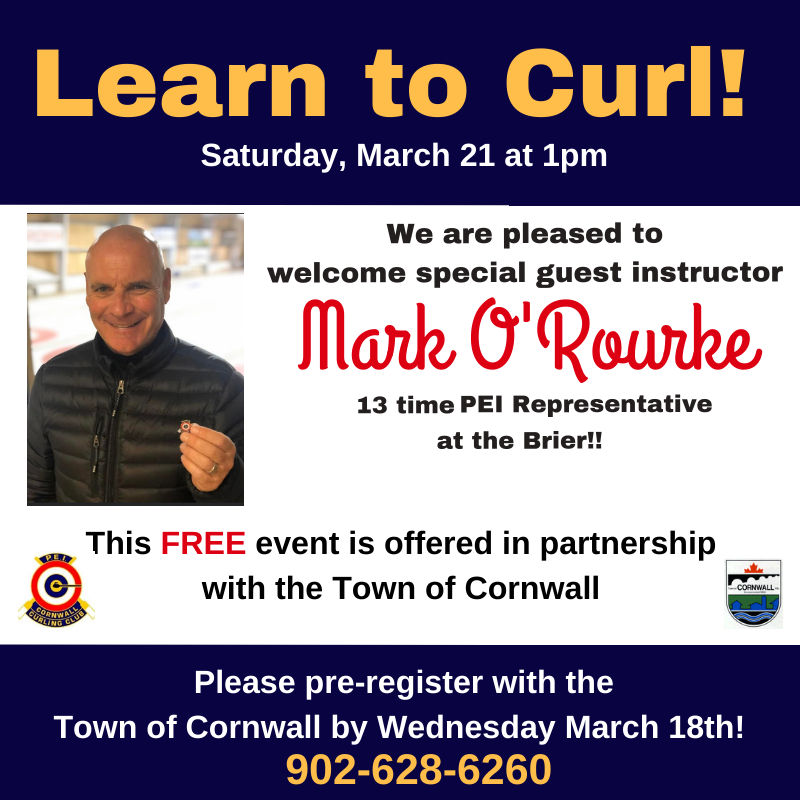 CANCELLED - FREE Learn to Curl with Mark O'Rourke @ Cornwall Curling Club