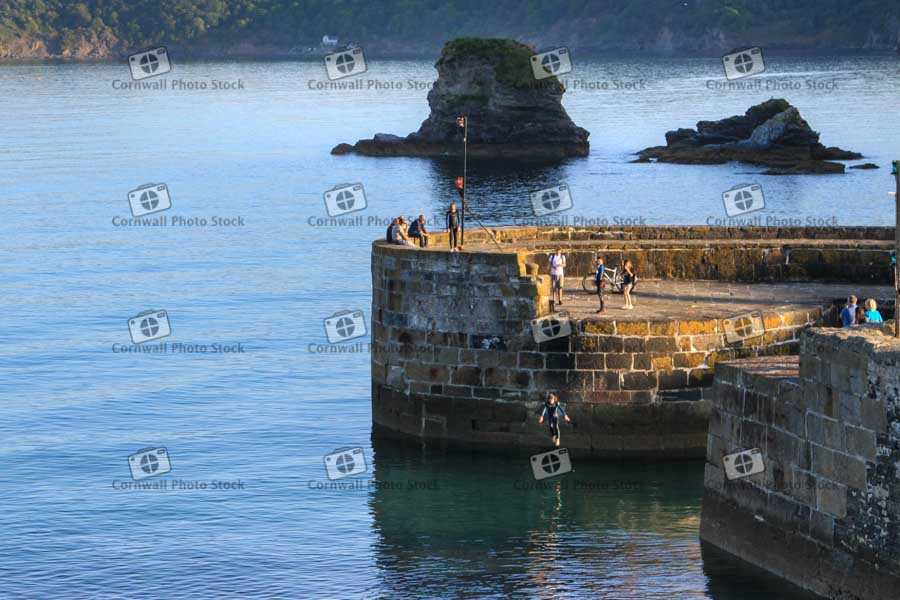Charlestown Harbour Wall Quay Jumping