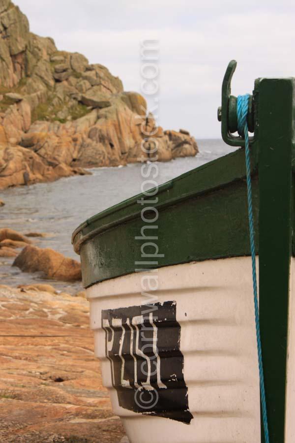 Green Fishing Boat On Shore