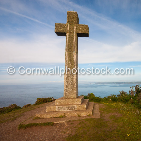Christian Cross Looking Out From Dodman Point