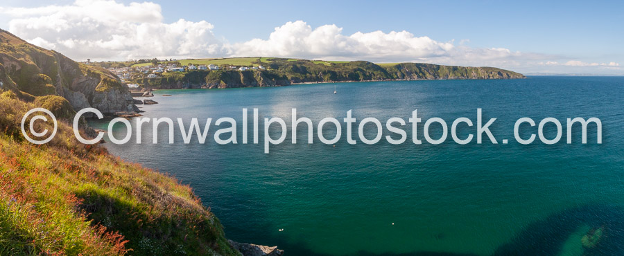 Gorran Haven And South West Coast Path Cliffs Panoramic