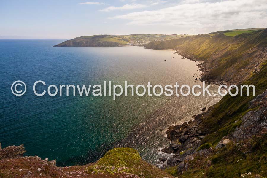 Gorran Haven With Cliffs In Foreground