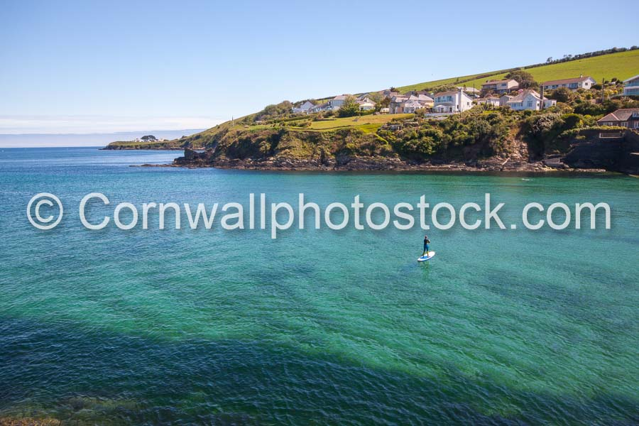 Portmellon with Stand Up Paddle Boarder And Church Point