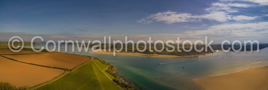 Camel Estuary Panorama With Rock And Pentire Head