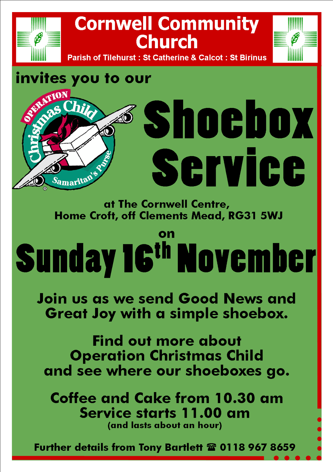 Shoebox Service – Sunday 16th November