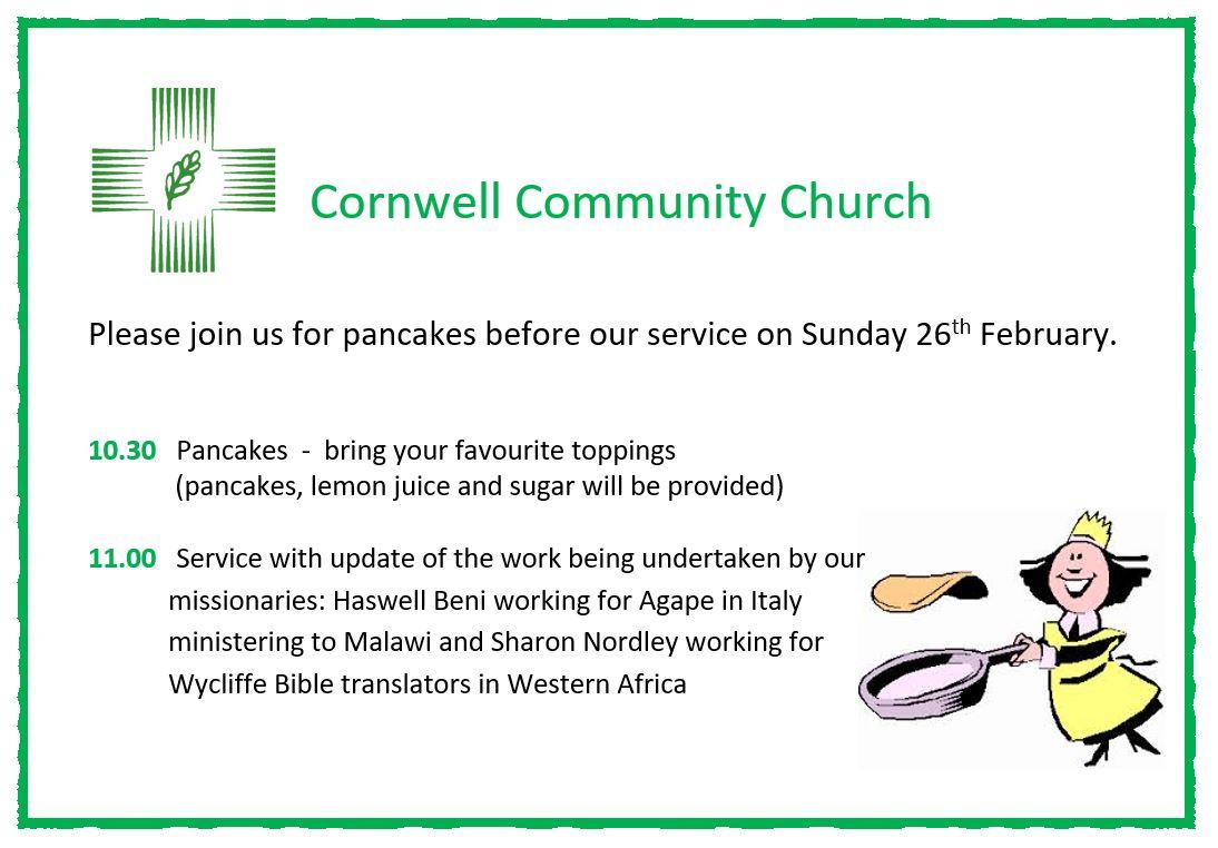 Pancakes – Sunday 26th February