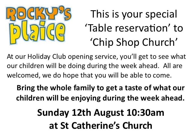 Holiday Club Service at St Catherine's – Sunday 12th August