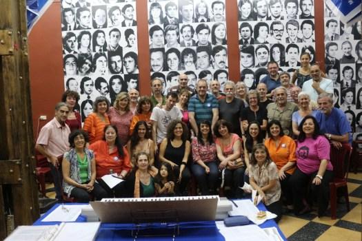 Héctor Agustín Tosco con el Coro Cumpa