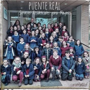 """coroinfantilsf en la Residencia de Mayores """"Puente Real"""" de Badajoz. Villancicos 2016."""