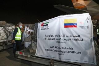 طائرة مساعدات طبية ثالثة إلى كولومبيا لدعمها في مكافحة «كوفيد-19»