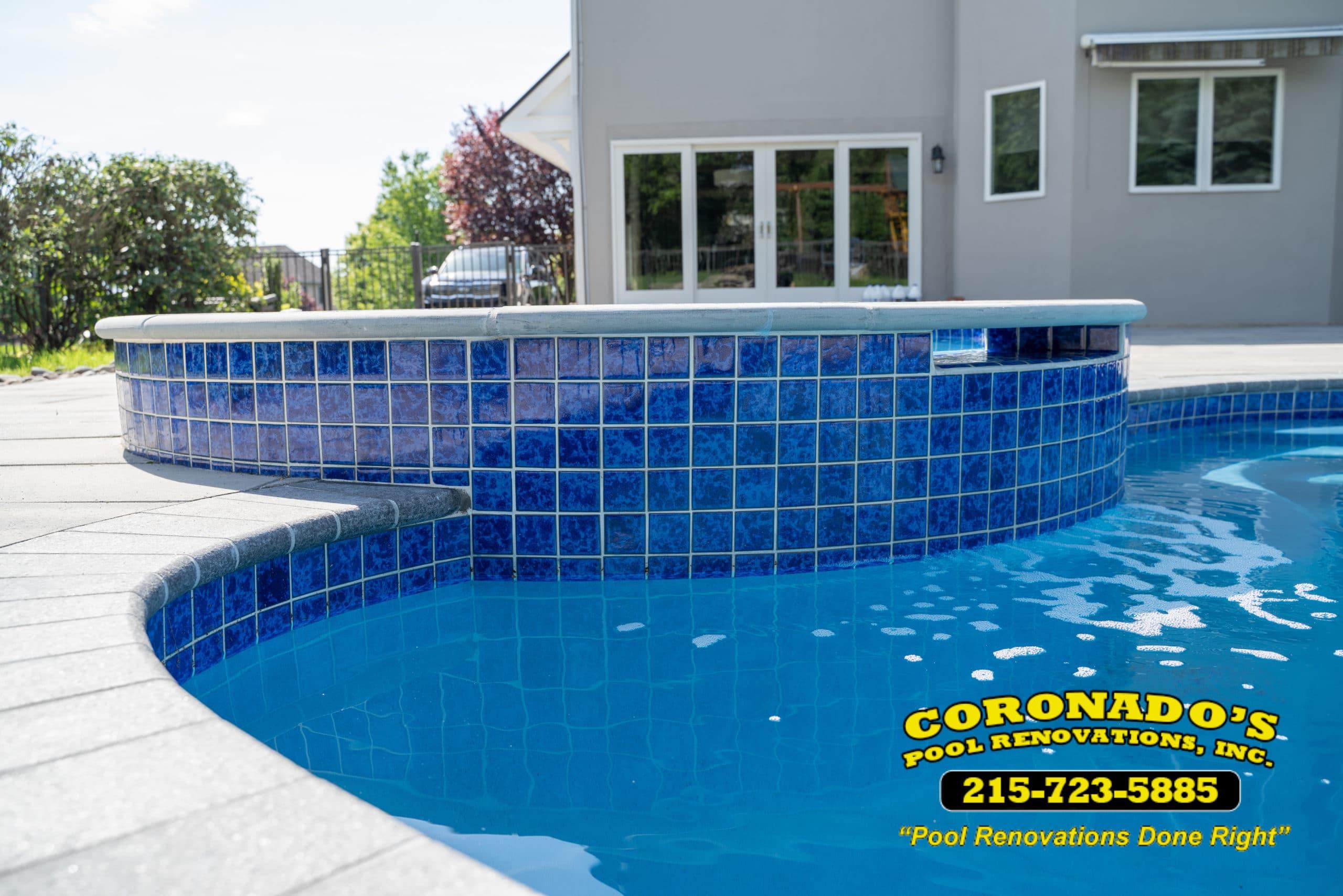 swimming pool tile coping repair