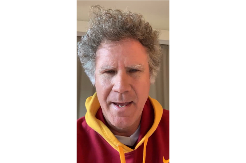 Will Ferrell greets the USC community