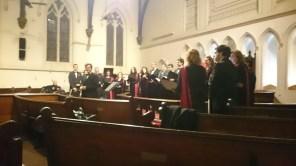 La Agrupación Vocal Cantori en acción