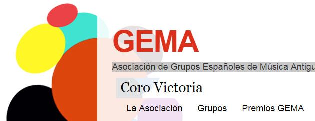 El Coro Victoria ya forma parte de GEMA (Asociación de Grupos Españoles de Música Antigua)