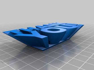 """Thank You [MakerBot PrintShop]"" by MakerBot is licensed under CC0 1.0"