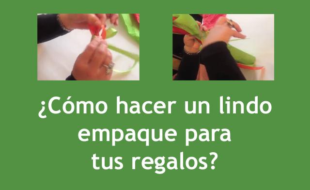 Cómo hacer un lindo empaque para tus regalos - Camy's Party y Regalos Colombianos