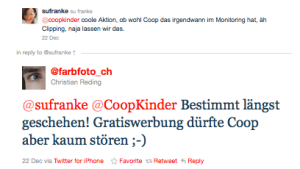 Tweet von Farboto über CoopKinder
