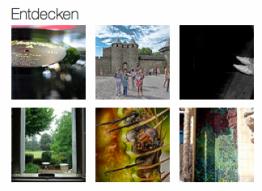Flickr schlägt inspiriert ausserhalb vom Newsstream