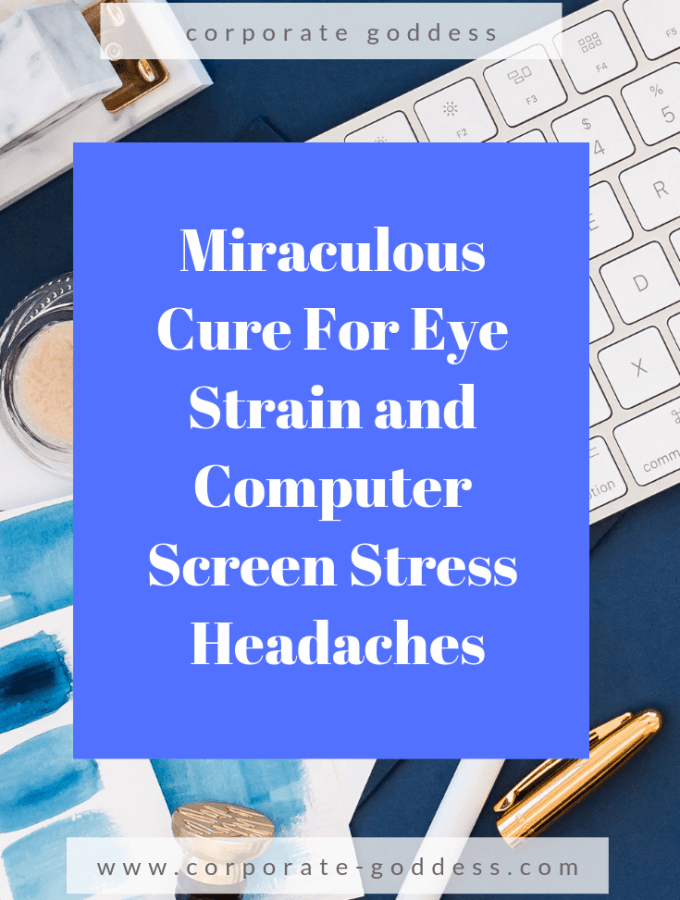 Miraculous Cure For Eye Strain and Computer Stress Headaches Are you suffering from eye strain or screen headaches? Help to relieve and cure eye strain and computer screen fatigue with this remedy