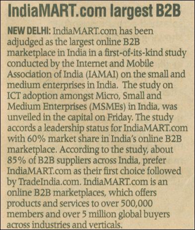 IndiaMART.com largest B2B