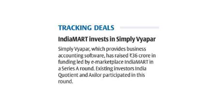 Vyapar, Mobile Billing software for MSMEs raises Rs 36 cr