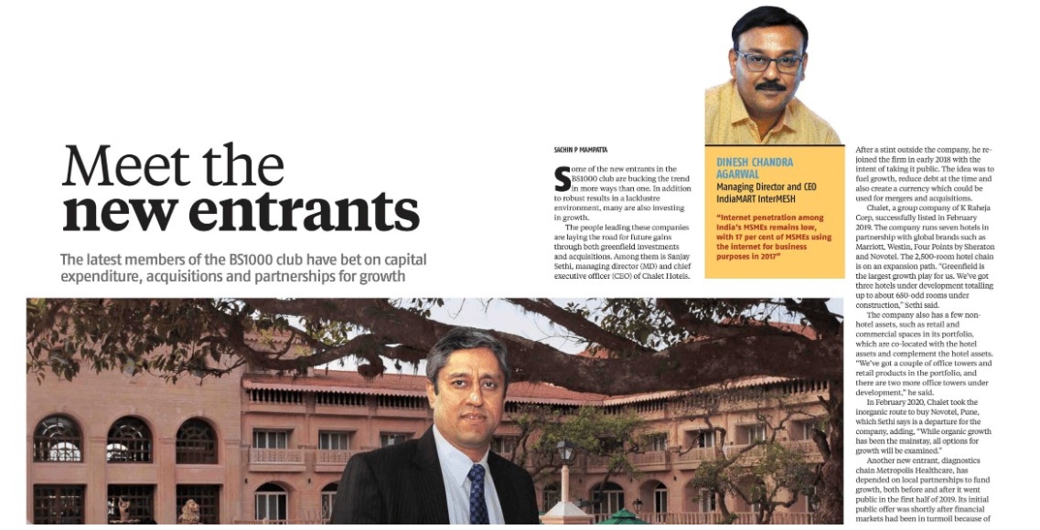 Meet New Entrants | Business Standard