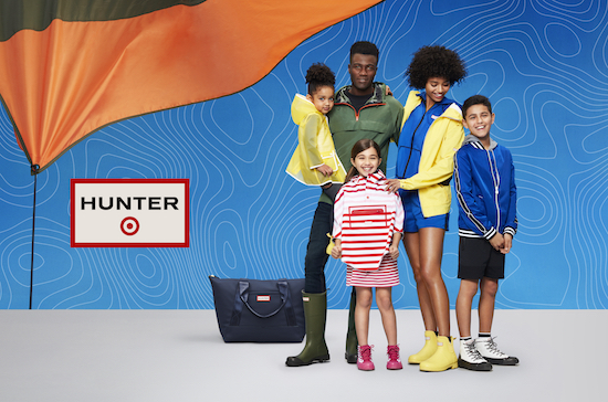 Family modeling new Hunter for Target clothing and accessories