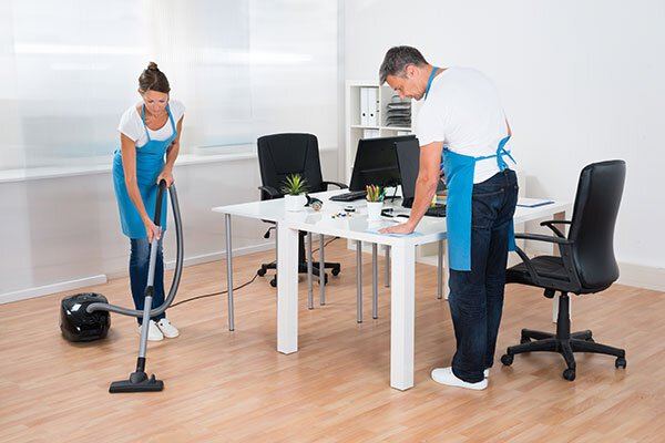 Custodial Service Cleaning an Office
