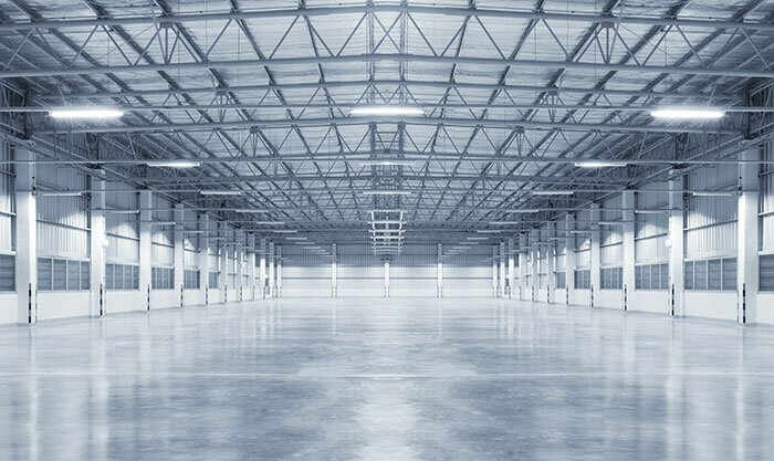 Cement Polishing hard floor care in Warehouse in Grand Rapids