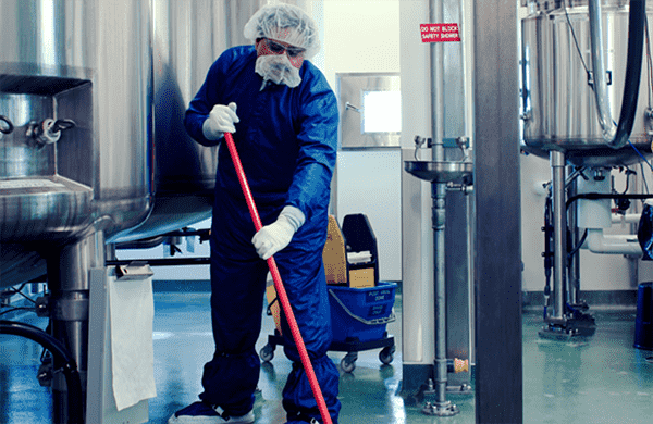 Professional Cleaning at a Manufacturing Facility