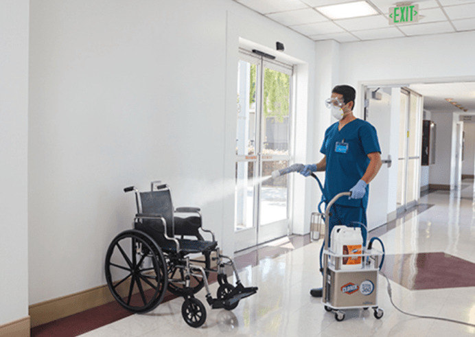 total disinfection of hospital wheelchairs in Grand Rapids