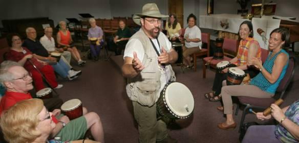 Arthur Facilitating Drum Circle