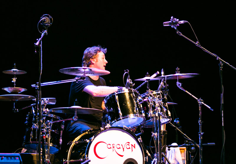 Mark Walker playing drums for Caravan