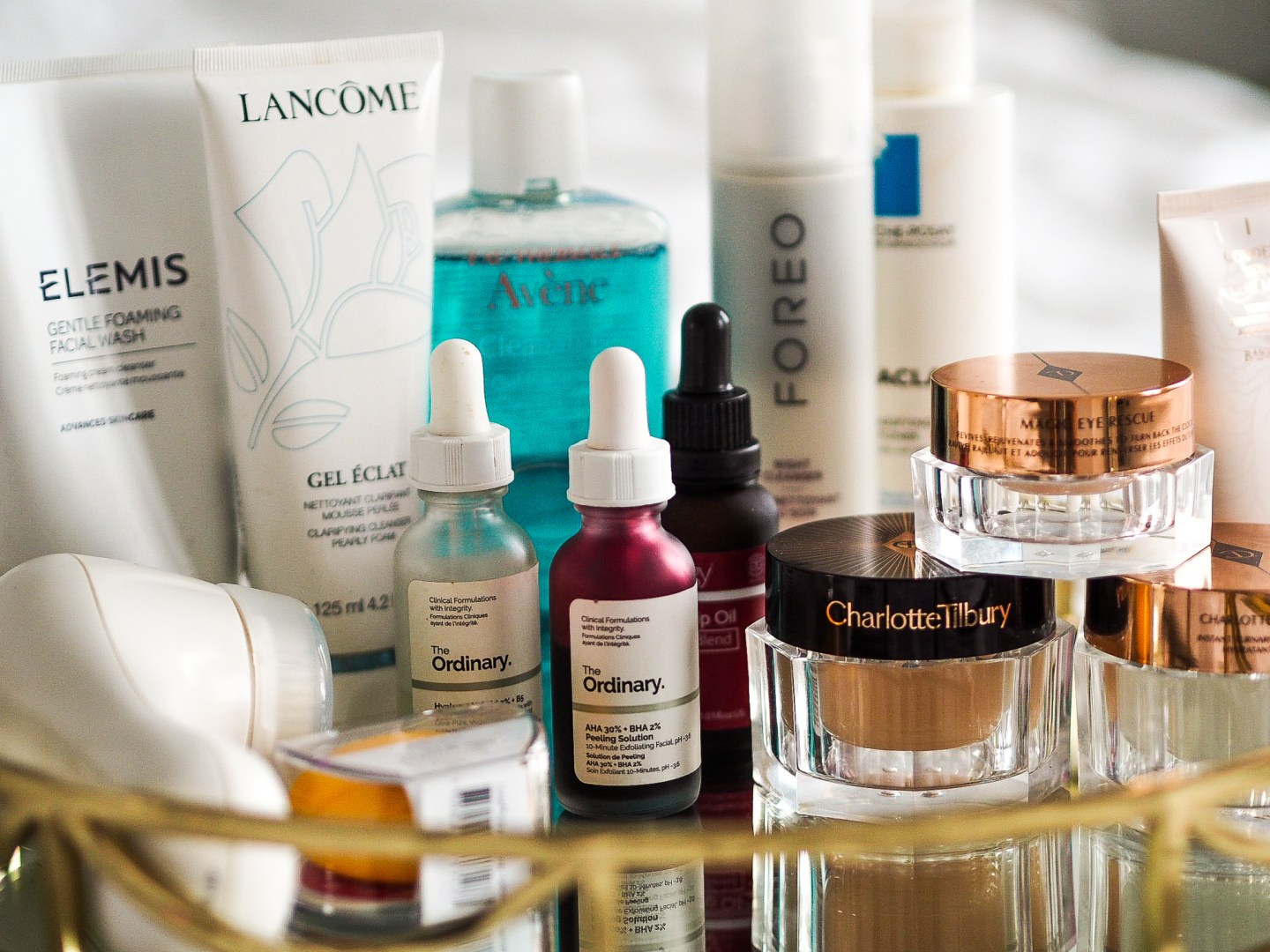 Skincare Routine Charlotte Tilbury, The Ordinary, Avene, Clarisonic