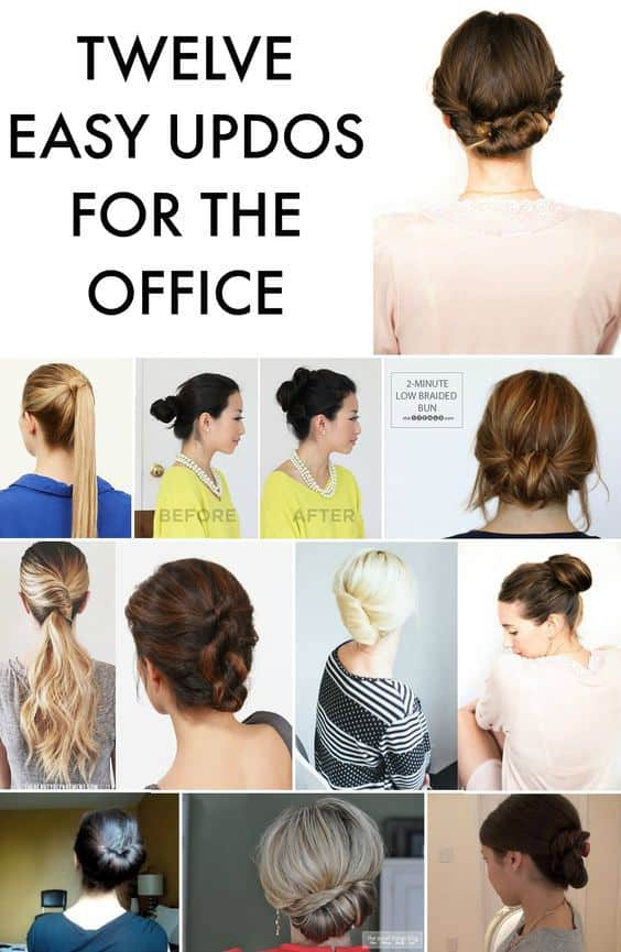 12 Easy Office Updos Buns Chignons Amp More For Busy For
