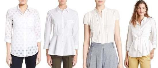 feminine white blouses