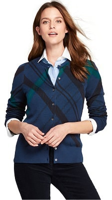 great supima cotton cardigans at Lands' End!