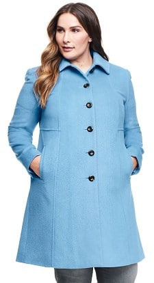 affordable wool coats for women from Lands' End