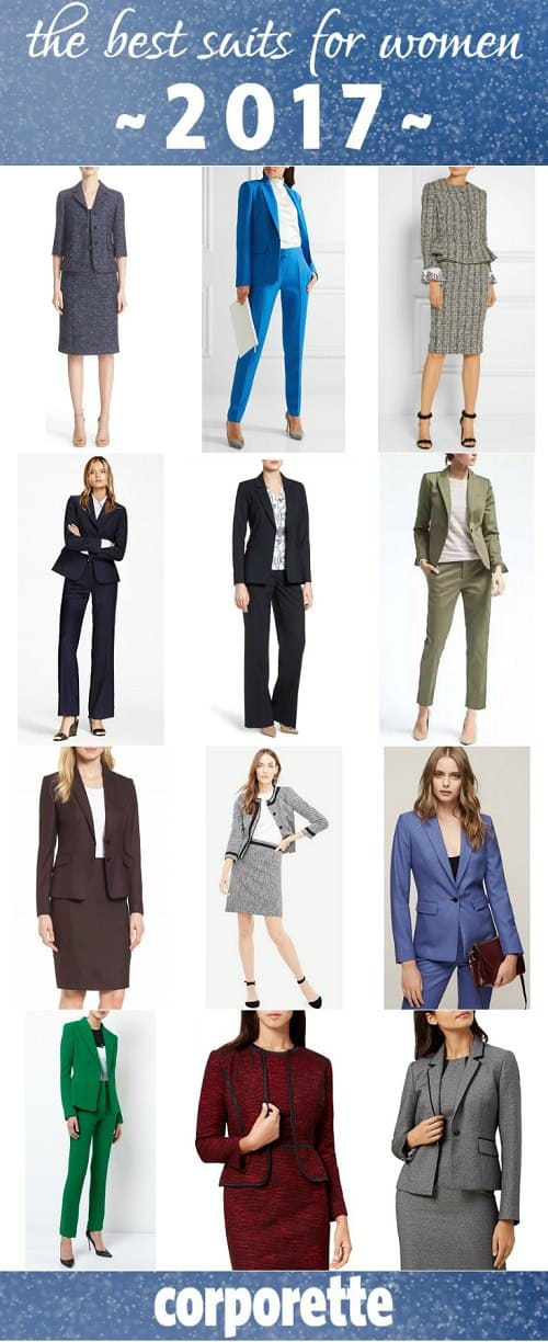 "From budget suits for women to splurgey designer suits, these are some of our favorite suits from our ""Suit of the Week"" feature throughout 2017!"